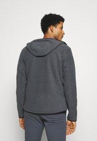 Salomon - SNOWSHELTER TED HOODIE - Fleece jacket - ebony - 2