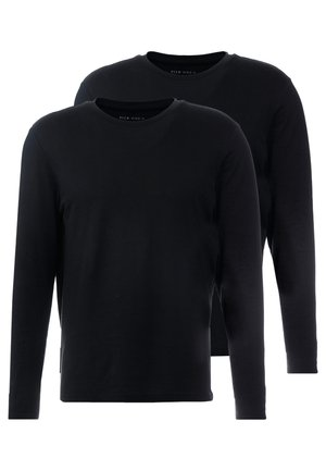 2 PACK - Longsleeve - black