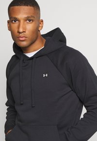 Under Armour - RIVAL HOODIE - Hættetrøjer - black/onyx white - 3