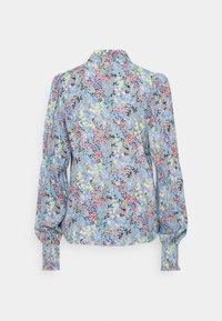 YAS Tall - YASSANTOS SHIRT TALL - Button-down blouse - dusk blue/santos print - 2