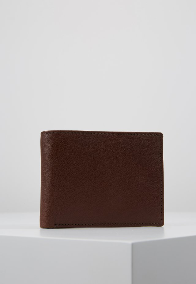 DROP MENS WALLET - Plånbok - brown