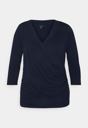 ALAYJA 3/4 SLEEVE - Long sleeved top - french navy