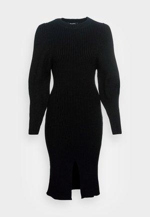 KIARA DRESS - Svetríkové šaty - black