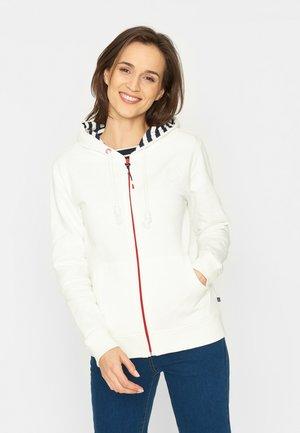 Zip-up sweatshirt - pearl