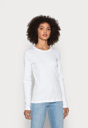 LONG SLEEVE - Långärmad tröja - white