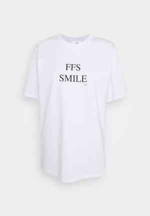FFS SMILE  - T-shirt imprimé - white