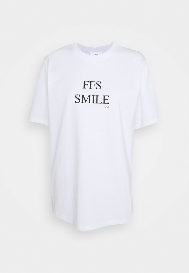 FFS SMILE  - Print T-shirt - white
