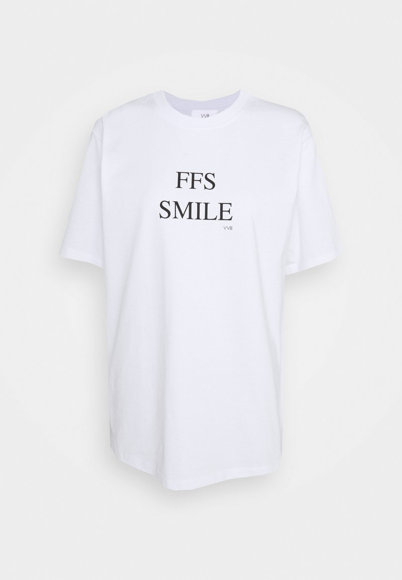 Victoria Victoria Beckham - FFS SMILE  - Triko spotiskem - white