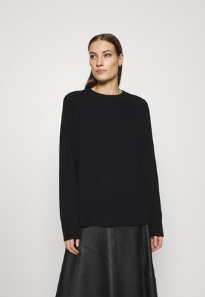 Crew Neck Jumper - Jumper - black dark