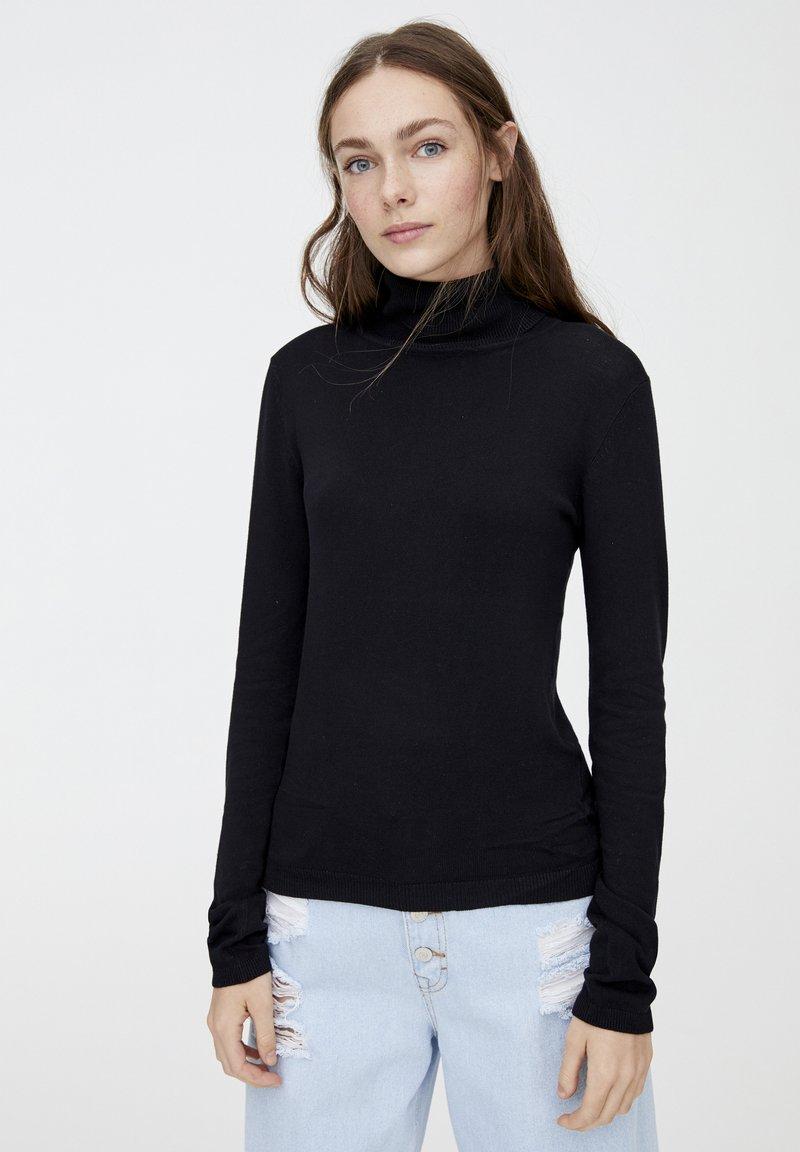 PULL&BEAR - Pullover - black