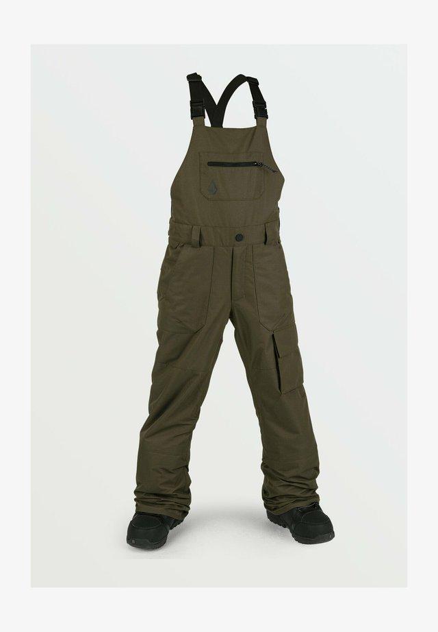BARKLEY BIB OVERALL - Pantaloni da neve - olive