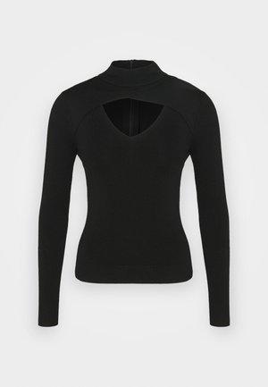 V CUT OUT - Sweter - black