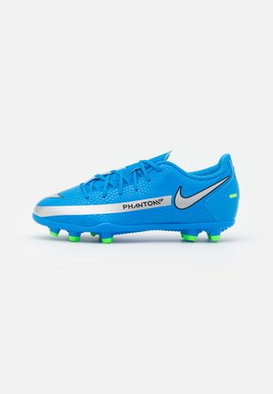 JR PHANTOM GT CLUB FG/MG UNISEX - Moulded stud football boots - photo blue/metallic silver/rage green