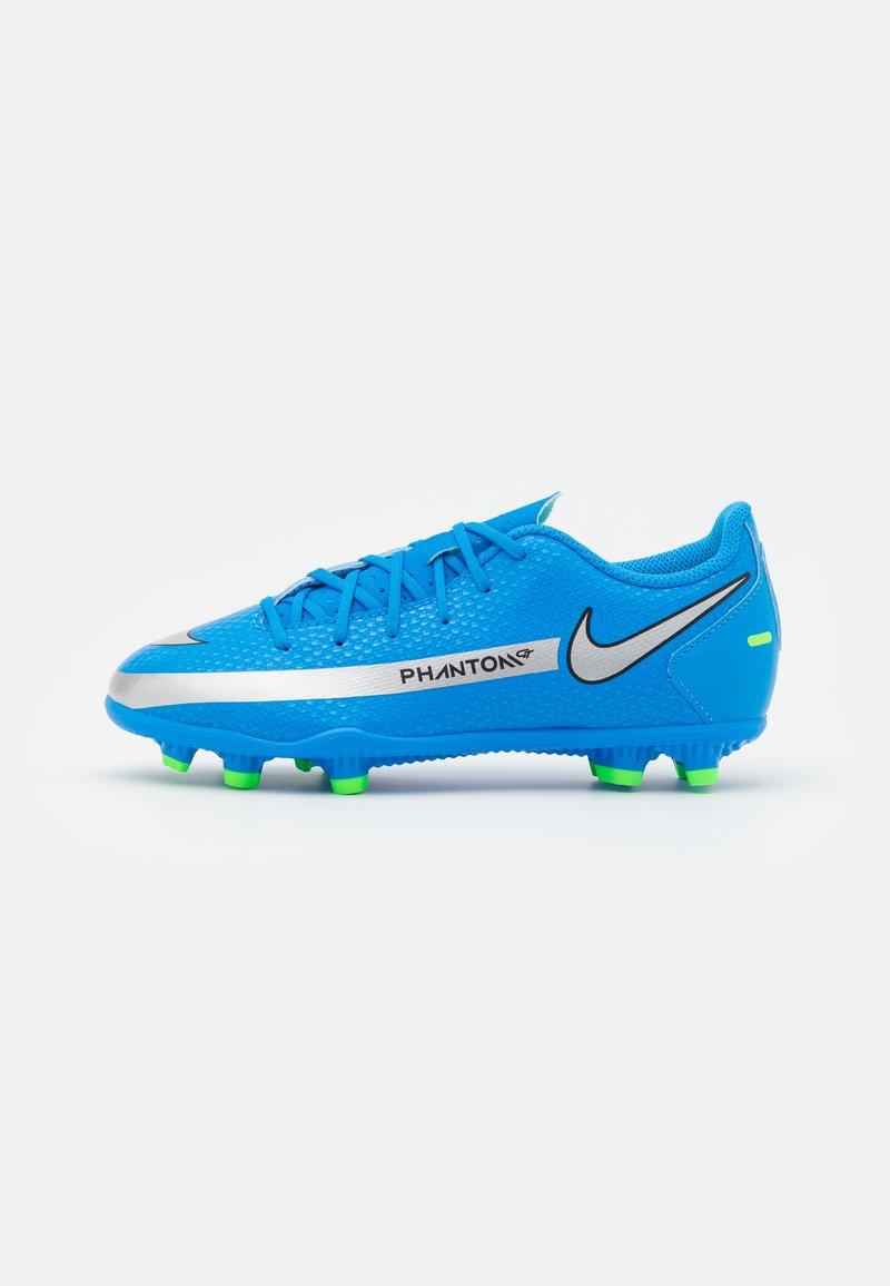 Nike Performance - JR PHANTOM GT CLUB FG/MG UNISEX - Moulded stud football boots - photo blue/metallic silver/rage green