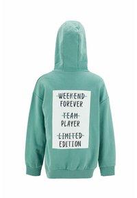 DeFacto - Zip-up sweatshirt - turquoise - 1