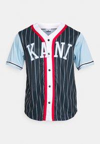 Karl Kani - COLLEGE BLOCK PINSTRIPE BASEBALL SHIRT - Shirt - navy - 4