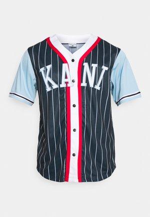 COLLEGE BLOCK PINSTRIPE BASEBALL SHIRT - Shirt - navy