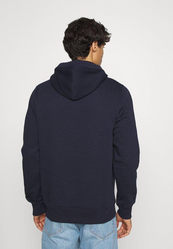 GANT ARCHIVE SHIELD HOODIE - Bluza z kapturem - evening blue/granatowy Odzież Męska CLSP