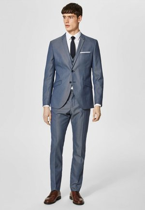 Suit trousers - medium blue melange