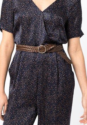 Braided belt - noisette