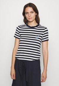 Marc O'Polo DENIM - SHORT SLEEVE STRIPE - Print T-shirt - multi/scandinavian blue - 0