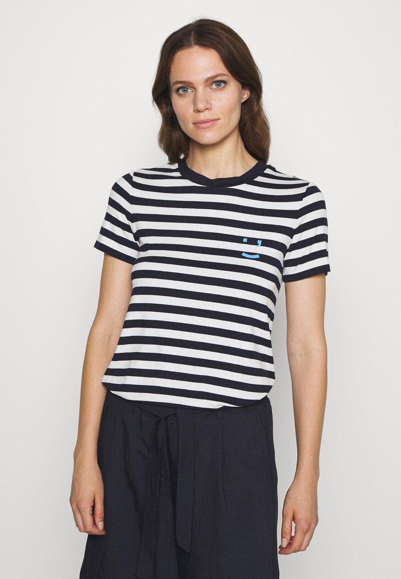 Marc O'Polo DENIM - SHORT SLEEVE STRIPE - Print T-shirt - multi/scandinavian blue