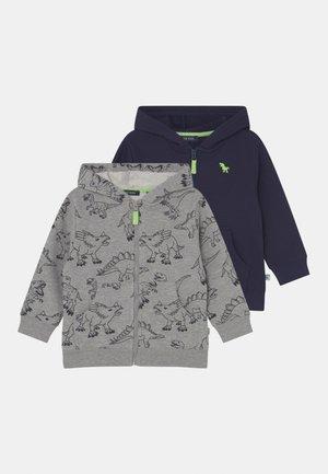 KIDS BOYS 2 PACK - Zip-up sweatshirt - rk blue/mottled grey