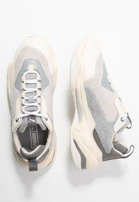 Puma - THUNDER BLOCK - Sneaker low - quarry/white smoke - 3