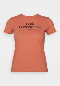 Peak Performance - Print T-shirt - clay red - 0