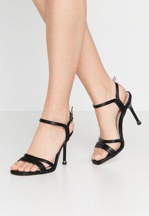 High heeled sandals - black matt