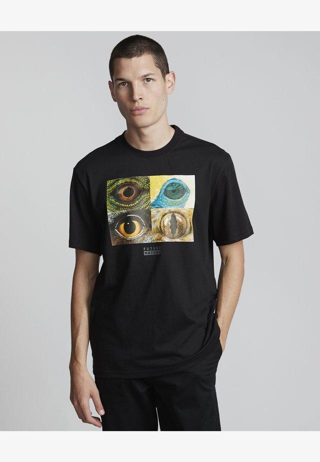 National Geographic Optical  - Print T-shirt - flint black