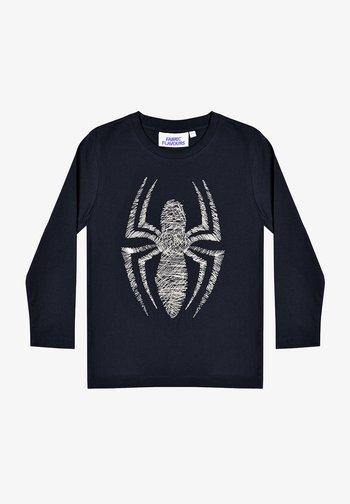 MARVEL SPIDER-MAN METALLIC EMBROIDERY TEE - Long sleeved top - black