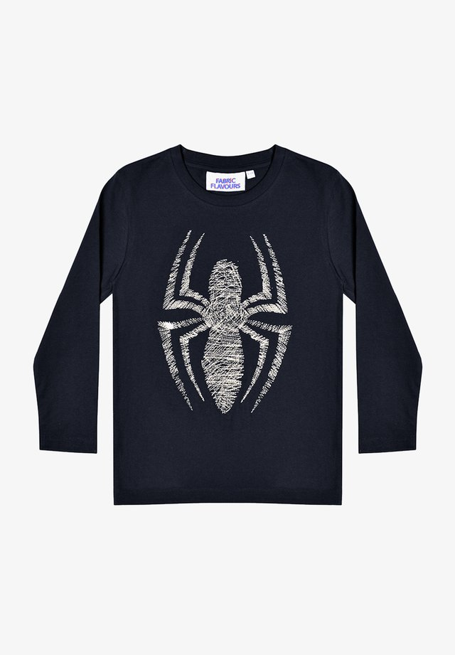 MARVEL SPIDER-MAN METALLIC EMBROIDERY TEE - Long sleeved top - black