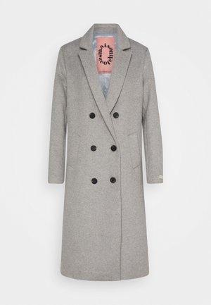 TAILORED DOUBLE BREASTED COAT - Classic coat - light grey melange