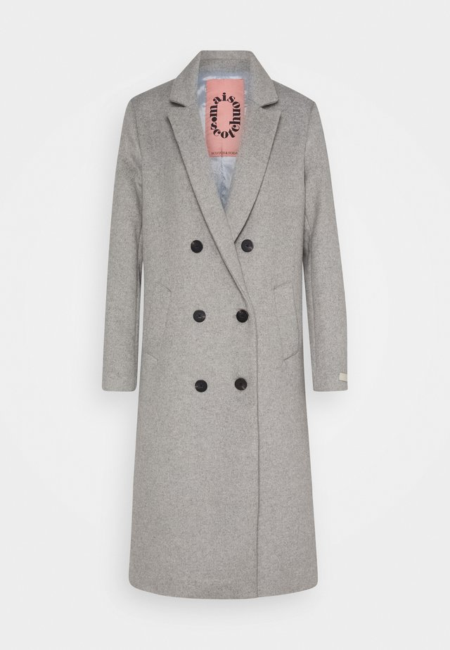 TAILORED DOUBLE BREASTED COAT - Zimní kabát - light grey melange