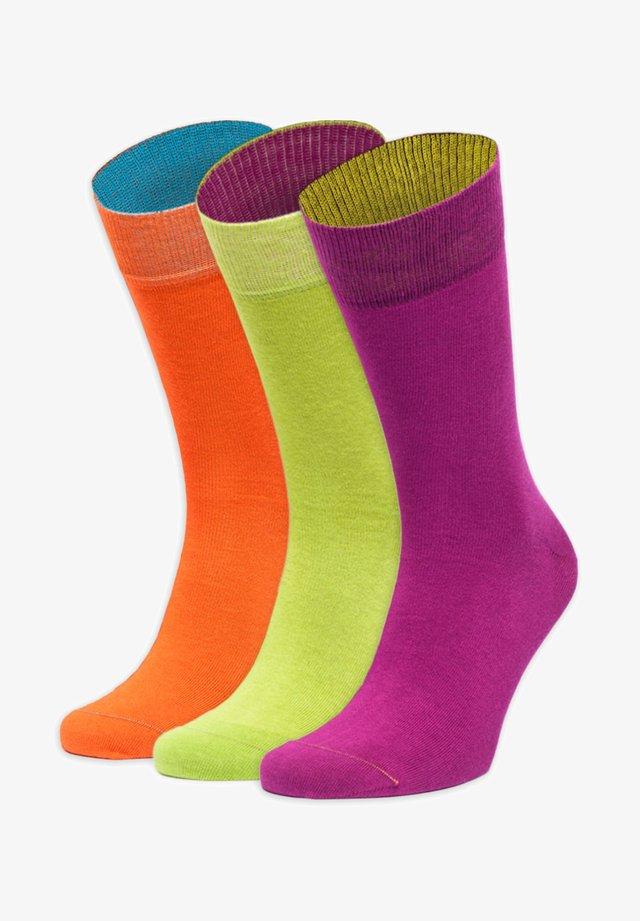 DAS HALBE GANZE - Chaussettes - orange,lila,grün,gelb,blau