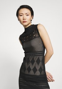 MRZ - SEETHROUGH DRESS - Pletené šaty - black - 4