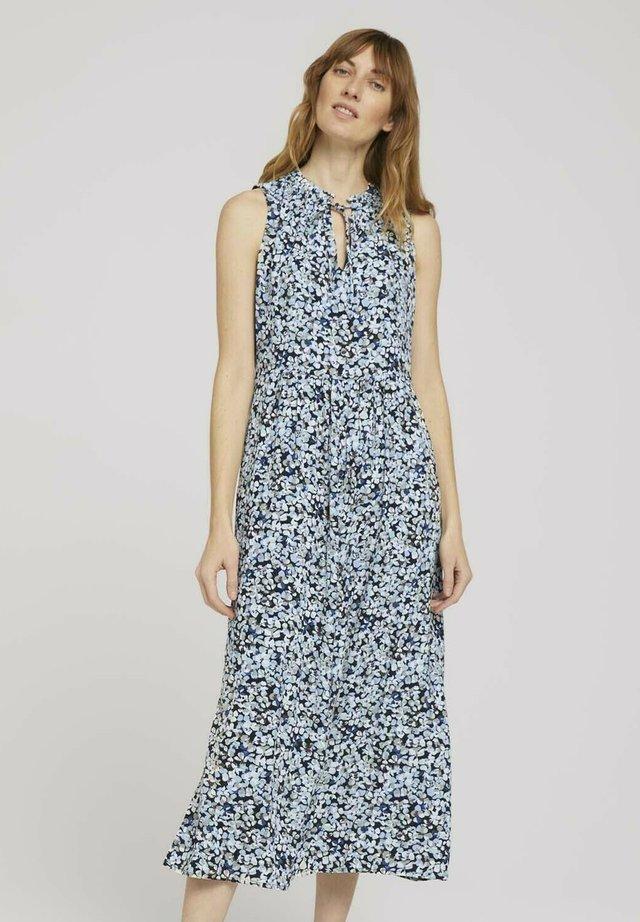 Korte jurk - navy floral design