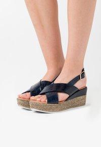 Jana - Platform sandals - navy - 0