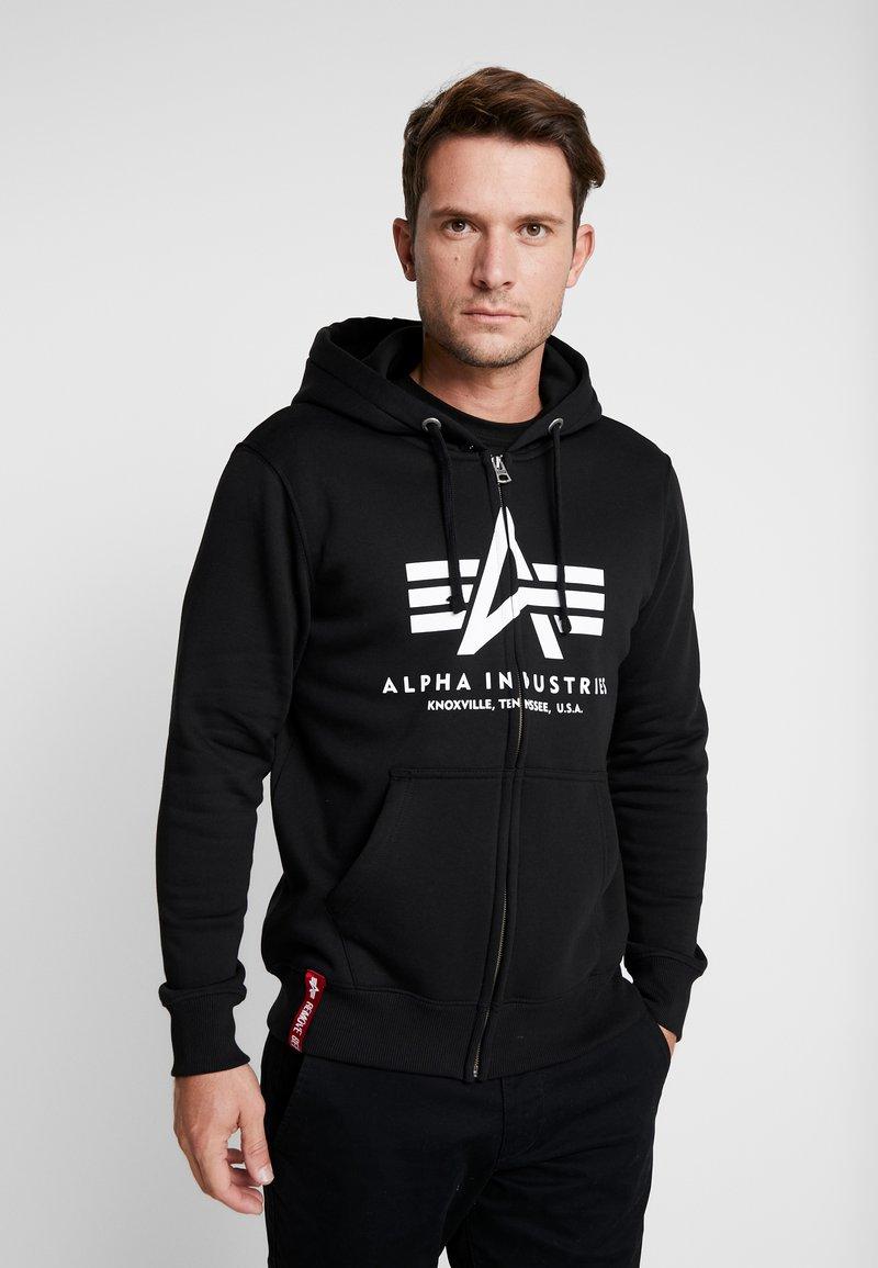 Alpha Industries - Zip-up hoodie - black