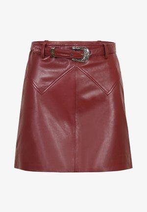 Leather skirt - burgundy