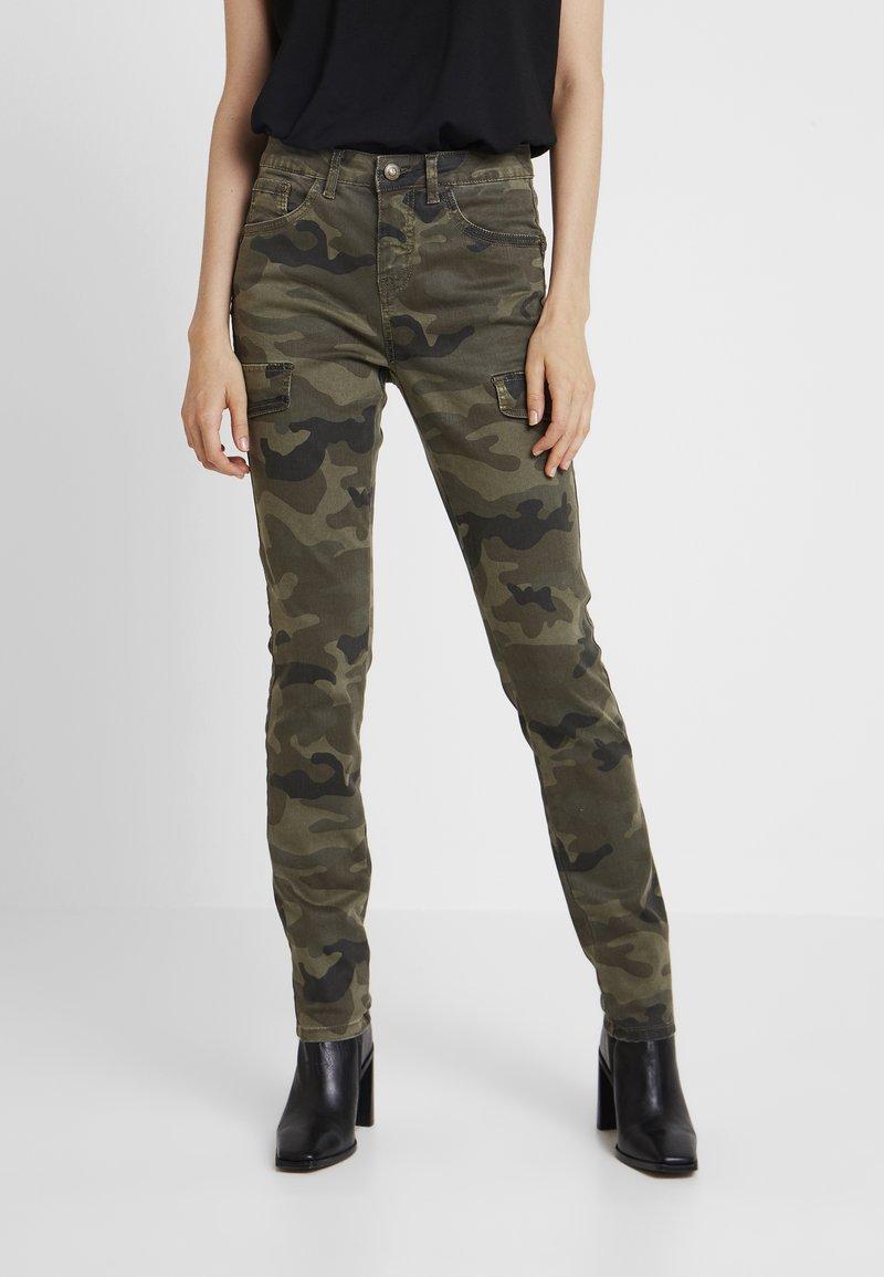 Cream - ANINA CARMU PANTS SHAPE - Slim fit jeans - sea green