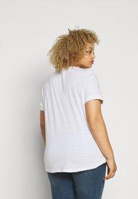 Lauren Ralph Lauren Woman - HAILLY SLEEVE - Print T-shirt - white - 2