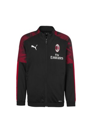 Sports jacket - black-tango red
