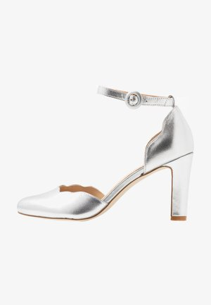 LEATHER PUMPS - Hoge hakken - silver