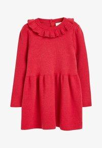 Next - FRILL NECK - Jumper dress - red - 0