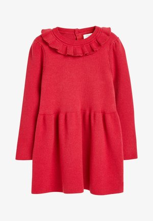 FRILL NECK - Jumper dress - red