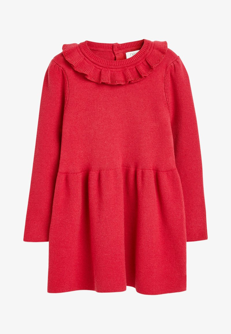 Next - FRILL NECK - Jumper dress - red