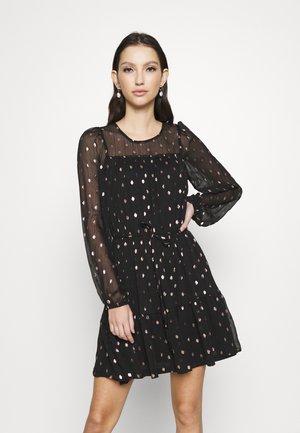 ONLISABELLA DRESS  - Day dress - black/rosegold