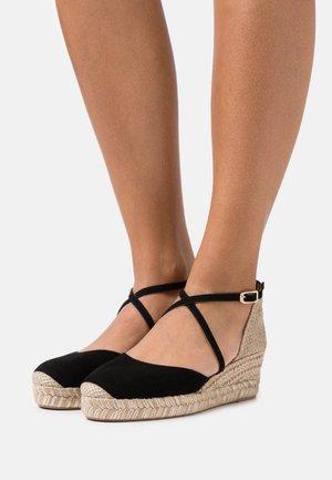 CAUDE  - Platform sandals - black